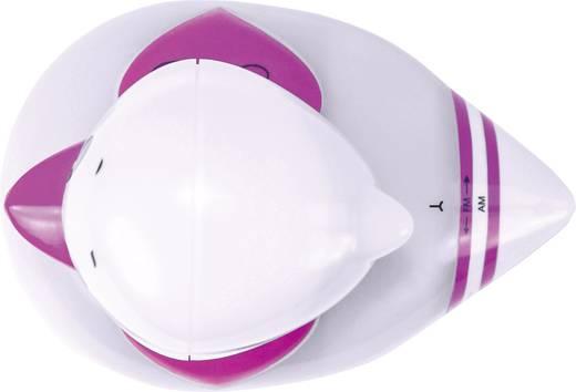 Fürdőszobai, zuhanyrádió, fehér/rózsaszín, Karcher B.R.I.N.I. UKW, MW