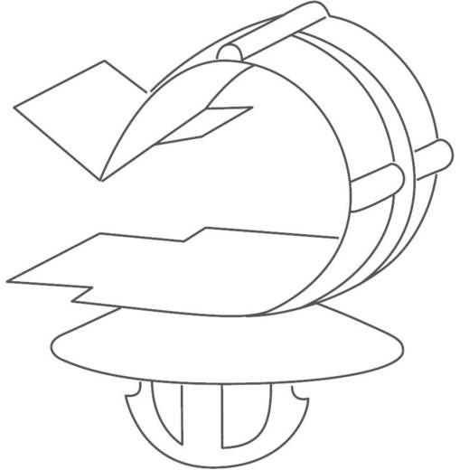 Rögzítőelem lekerekített terpesztő horgonnyal Köteg Ø: 7 - 9 mm KSFT6,5OC7-9 Fekete HellermannTyton Tartalom: 1 db