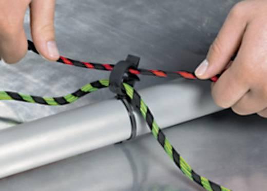 Rögzítő kötöző, 2 részes, tömlőtartóval (H x Sz) 200 mm x 4.6 mm T50ROC1A Szín: Fekete 1 db HellermannTyton
