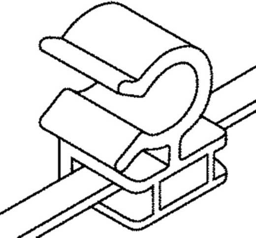 Rögzítő kötöző, 2 részes, tömlőtartóval (H x Sz) 150 mm x 3.6 mm T30ROC2A Szín: Fekete 1 db HellermannTyton