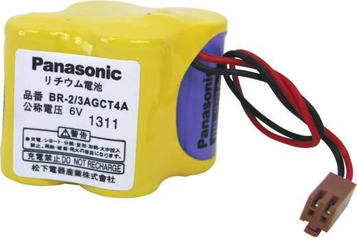 BR2/3AGCT4A lítium elem kábellel, 6V 2400 mAh, 46 x 33 x 35 mm, Panasonic