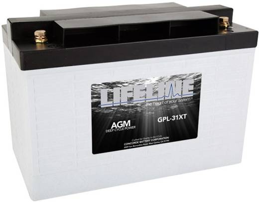Ólomakku 12 V 125 Ah LifeLine GPL31XT 12V 125Ah GPL31XT Ólomzselés 328 x 236 x 172 mm Karbantartásmentes,Ciklusálló
