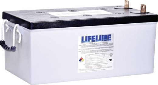 Ólomakku 12 V 255 Ah LifeLine GPL8DL 12V 255Ah GPL8DL Ólom-vlies (AGM) 524 x 258 x 278 mm Karbantartásmentes,Ciklusálló