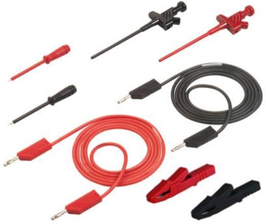 Mérőkábel, mérőzsinór készlet 4mm-es banándugós kábellel, mérőtűkkel, griffcsipeszekkel 1m SKS Hirschmann PMS 4 CO