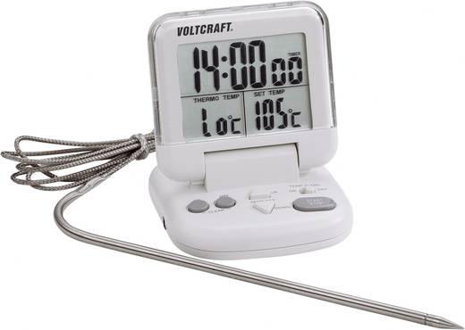 Voltcraft digitális beszúró hőmérő időzítővel, 0 - +200 °C, HACCP, DET-3T