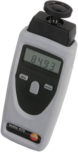 Testo 470 Optikai és mechanikus, tárcsás digitális fordulatszámmérő műszer