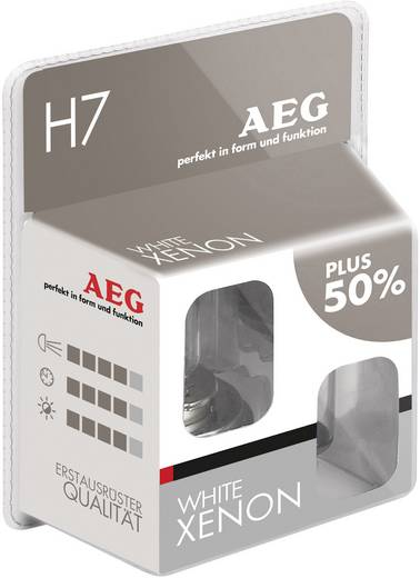 AEG White Xenon Plus H7 12 V 12 V 1 pár PX26d (H x Sz x Ma) 5.6 x 3.5 x 3 cm