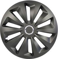 Autó dísztárcsa készlet 4 db, fekete (matt), Cartrend Fox R16 (70383) cartrend