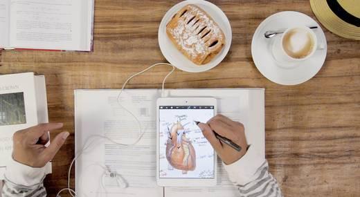Beviteli stift iPadhoz, tablethez vagy okostelefonhoz, vörös, Adonit Jot Pro Stylus Gun
