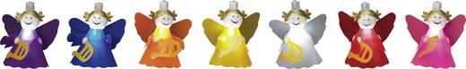 Beltéri LED-es fényfüzér, angyal motívumos, 10 LED, elemes, 4,5 m/6 m, hidegfehér, Polarlite LBA-03-004