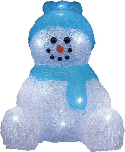 LED-es karácsonyi akril hóember kék sapkával és sállal, Polarlite LBA-52-001