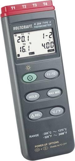 4 csatornás digitális hőmérő, -200...+1370 °C, Voltcraft K204