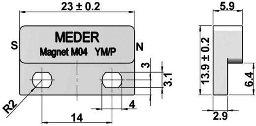 Működtető mágnes a dobozban StandexMeder Electronics Mágnes, M04