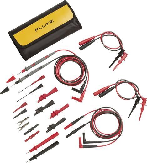 Multiméter mérőkábel, mérőzsinór készlet mérőtűkkel és mérőcsipeszekkel CAT II 300V-ig szigetelt 100cm Fluke TL81A