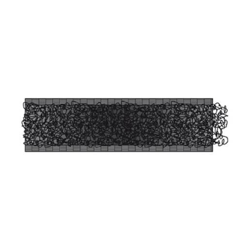 Tépőzár Felvarráshoz Bolyhos fél (H x Sz) 25000 mm x 20 mm Fekete dörner + helmer 190180 25 m