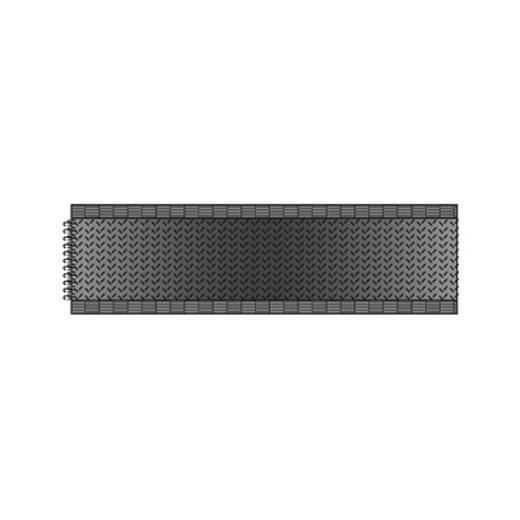 Tépőzár Felvarráshoz Horgos fél (H x Sz) 25000 mm x 20 mm Fekete dörner + helmer 190181 25 m