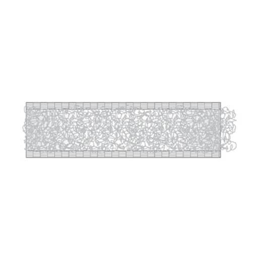 Tépőzár Felvarráshoz Bolyhos fél (H x Sz) 25000 mm x 20 mm Fehér dörner + helmer 190182 25 m
