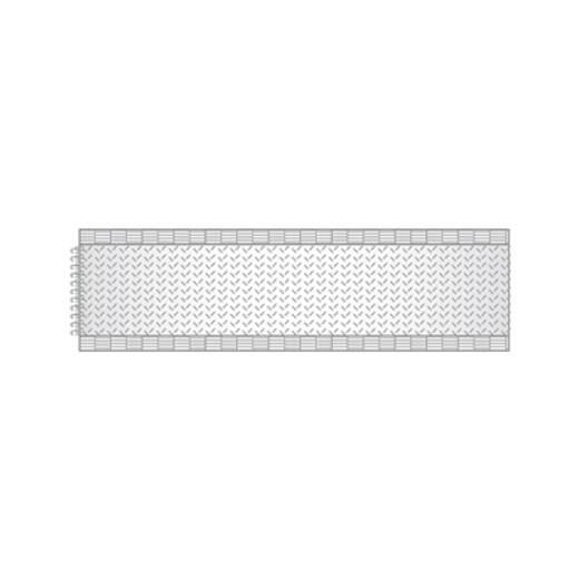 Tépőzár Felvarráshoz Horgos fél (H x Sz) 25000 mm x 20 mm Fehér dörner + helmer 190183 25 m