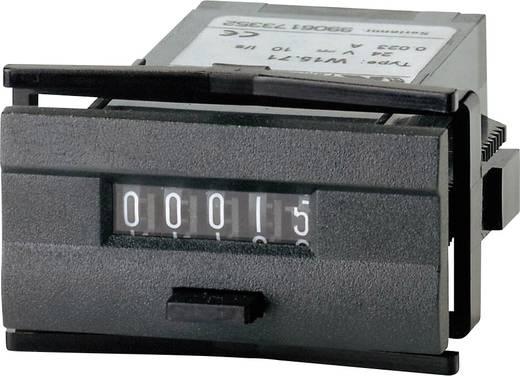 Kisméretű impulzusszámláló modul, nullázható 230V/AC beépítési méret 45 x 22,2mm Kübler W 15.51