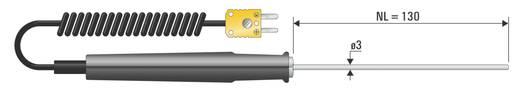 Hőmérsékletérzékelő K-Típus (NiCrNi), PTFE bevonattal Ø 3 mm, ·-50 .... +1150 °C