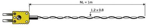 B&B K-típusú hőmérséklet-érzékelő, 1m, -50 - 260 °C (NiCrNi)