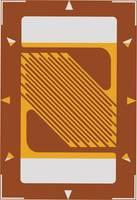 Nyúlásmérő csík 1 db ECF-350-3AB-(11)-O-SP (H x Sz) 8.2 mm x 5.4 mm