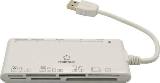 Külső memóriakártya olvasó, USB 3.0 Renkforce CR23e Fehér
