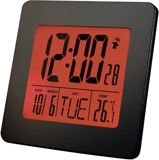 Rádiójel vezérelt óra dátummal és hőmérséklet kijelzéssel