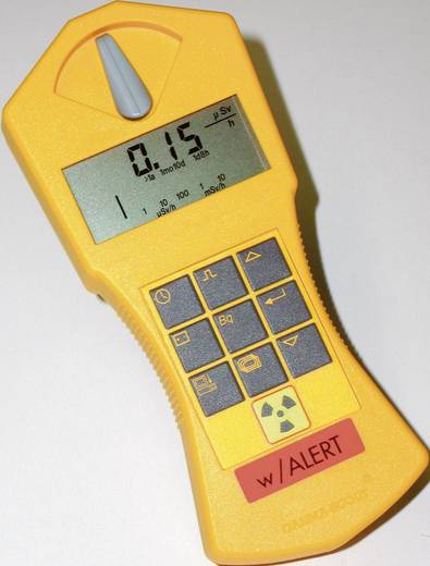 Radioaktivitásmérő, sugárzásmérő Geiger számláló, riasztás funkcióval, GAMMA-SCOUT®