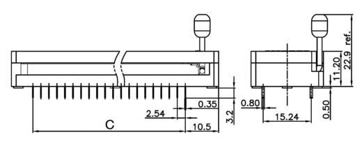 IC tesztfoglalat 15.24 mm Pólusszám: 28 ZIF28GB 1 db