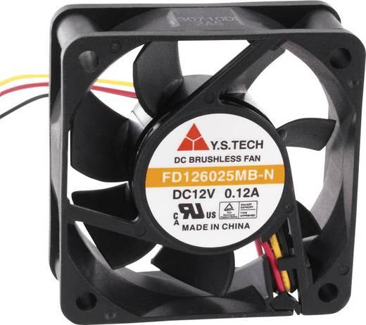 Axiális ventilátor (ipari) 12 V/DC 35.82 m³/h (Sz x Ma x Mé) 60 x 60 x 25 mm FD126025MB-N(2A5)