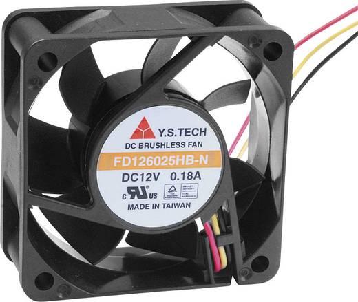 Axiális ventilátor (ipari) 12 V/DC 42.66 m³/h (Sz x Ma x Mé) 60 x 60 x 25 mm FD126025HB-N(2A7)