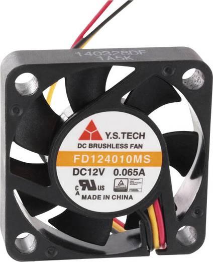 Axiális ventilátor (ipari) 12 V/DC 9 m³/h (Sz x Ma x Mé) 40 x 40 x 10 mm FD124010MS(1A5K)