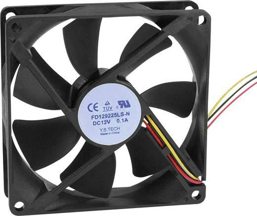 Axiális ventilátor (ipari) 12 V/DC 64.74 m³/h (Sz x Ma x Mé) 92 x 92 x 25 mm FD129225LS-N(1A3K)