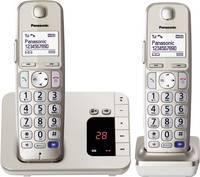 Panasonic KX-TGE222 Duo Vezeték nélküli telefon időseknek Üzenetrögzítős, Kihangosító Világító kijelző Pezsgő Panasonic