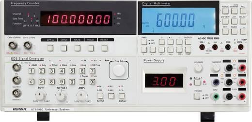 Asztali True RMS multiméter, funkciógenerátor és labortápegység egyben Voltcraft UTS-1980
