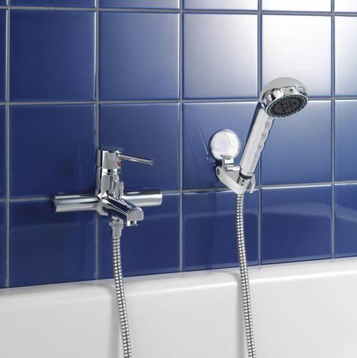 Zuhanyfej tartó fúrás nélküli, króm, Wenko 20619500