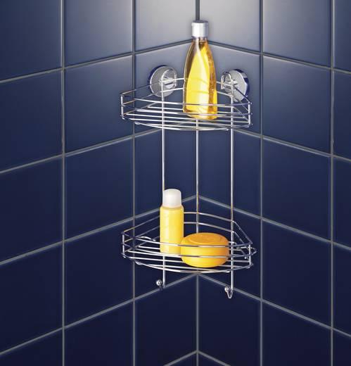 Fürdőszobai sarokpolc, 2 részes, ezüst, Wenko 20885500