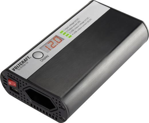 Színuszos inverter 150 W 12 V/DC 11 - 15 V/DC , szivargyújtó/euro/USB csatlakozóval VOLTCRAFT SLS-150-12