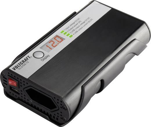 Szivargyújtós szinuszos inverter, USB-vel LCD kijelzővel 12 V/DC 11 - 15 V/DC 150W VOLTCRAFT SLS-150-12