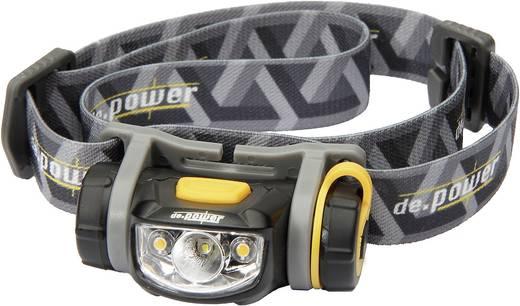 LED-es fejlámpa, elemes, Cree LED 100 lm 52 m 26 óra 68 g, fekete/szürke, de.power by litexpress DP-800AA