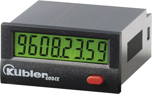 Üzemóra számláló modul 10-260V/AC/DC 9999h59m59s/ 9999999.9s Kübler Codix 135