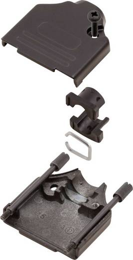 D-SUB ház, pólusszám: 25, fém, 180 ° fekete, MH Connectors MHDTZK25-BK-K