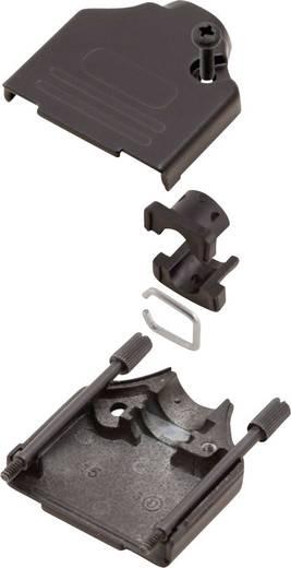 D-SUB ház, pólusszám: 9, fém, 180 ° fekete, MH Connectors MHDTZK9-BK-K