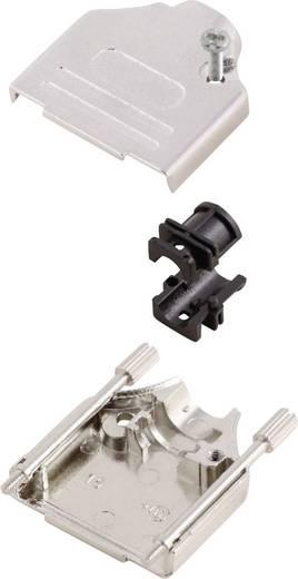 D-SUB ház, pólusszám: 25, fém, 180 °, ezüst, MH Connectors MHDTZK25-RA-PC-K