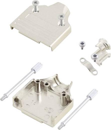D-SUB ház, pólusszám: 15, fém, 180 °, ezüst, MH Connectors MHDM15-K