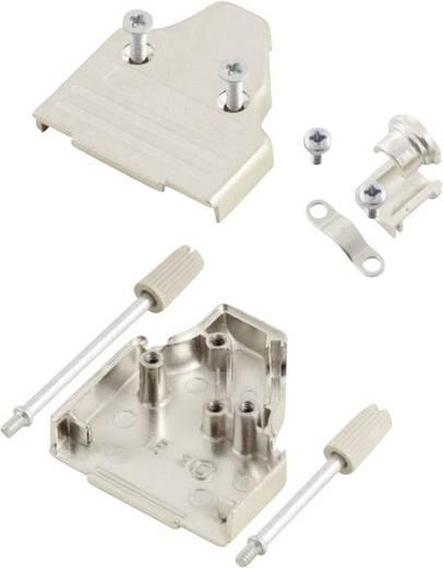 D-SUB ház, pólusszám: 9, fém, 45 °, ezüst, MH Connectors MHDM35-9-K