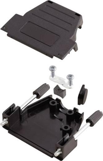D-SUB ház, pólusszám: 15, műanyag, 180 °/45 ° fekete, MH Connectors MHDSSK-P-15-L-K