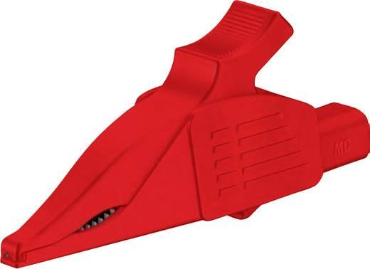 Szigetelt krokodilcsipesz, mérőcsipesz CAT II/1000V-ig 4mm-es banándugó aljzattal, piros Multicontact XDK-1033 RT