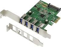 4 portos 3.0 PCI Express kártya VLI chipszettel, Renkfoce (RF-3633348) Renkforce